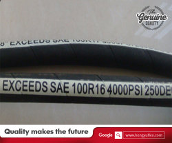 High Quality High Wear Resistance SAE100 R16 Hydraulic Rubber Hose