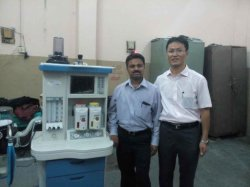 Top Medical Equipment Ce/ISO Approved Hospital Use Anesthesia Machine Price with Ventilator