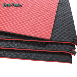 Wholesale EVA Taekwondo Tatami Puzzle Mat 2.5cm Interlocking Floor Mat Red Black Blue Yellow Color for Gym and Sport