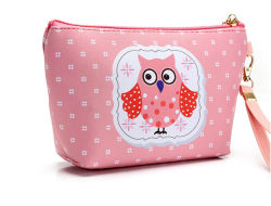 38c8a0354 Fashion Cute Style Cosmetic Bag Leather and Fabric Bag for Lady