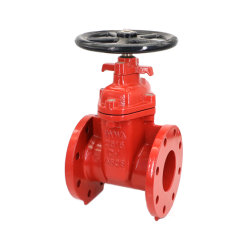 Non-Rising Stem Awwa Resilient Seated Gate Valve with Flange Ends for Drink Water, Slurry