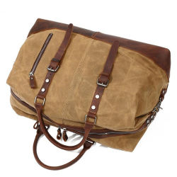 Factory Supplier Canvas Vintage Sport Travel Weekender Duffel Bag