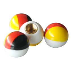 ABS Material Flasg Style Car Tire Valve Caps Wheel Tyre Cover