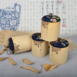 Best Sell Ceramic Tea Round Can with Four Seasons