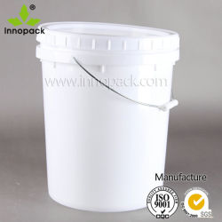 1 Gallon Plastic Pail with Lid and Metal Handle for Pet-Food Storage
