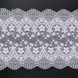 Wholesale Ivory White Fancy Lace Net Fabric French Lace Sale