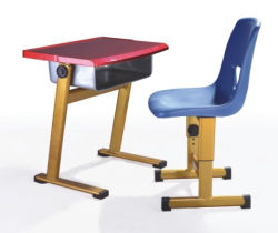 Modern School Furniture Student Double Desk or Single Desk and Chair Set