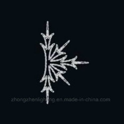 Hot Selling Rope Light LED Motif Snowflake with Metal Frame