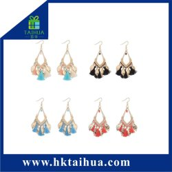 Colorful Bohemia Style Multi Eardrop Tassel Earrings for Women