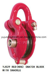 Hot DIP Galvanized/Red Snatch Block with Shackle for Cable, Cable Pulley Block