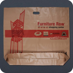 Big Size Printed Plastic Shopping Bag with Bottom Gusset