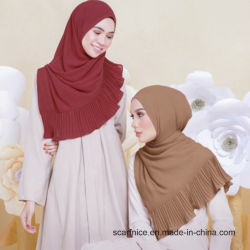 13baa7fc99ea2 Women Chiffon Shawl Solid Color Fashion Wrap Scarf Muslim Arabic Hijab  Instant Shawl Muslim Hijab Islamic