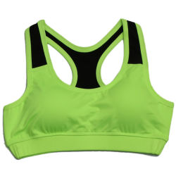 Nylon Spandex Black Womens Zip up Sports Bra