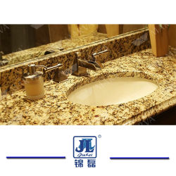 Natural Polished Giallo Santa Cecilia Granite for Kitchen Countertops/Vanities/Wall Flooring Tiles