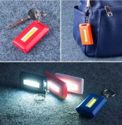 Promotional Gift COB LED Mini Flashlight Pocket Keychain Light
