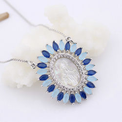 Wholesale Miraculous Virgin Mary Shell Pendant Necklace