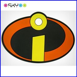 3D Soft PVC Silicone Rubber Sport Wears Garment Accessories Trademark
