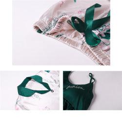 Wholesale Custom 7 Suit Pijamas Set Femme Sexy Satin Lingerie Set for Women Silk Lades Pyjamas