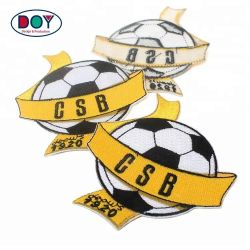 Garment Accessories Maker Sew on Custom Football Club Name Logo Custom Embroidered Patches for Sport