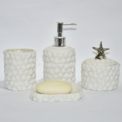 White Ceramic Bathroom Accessory Set