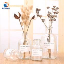 Wholesale Brown Vase Decorative Colored Clear Glass Flower Vase