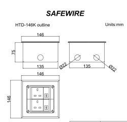 Stainless-Steel Open Type Floor Socket/Floor Boxes/Extension Socket