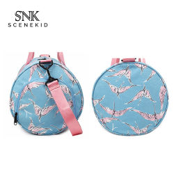Factory Supplier Hot Sale Wholesale Custom Print Barrel Foldable Shoe Duffel Bag Sports