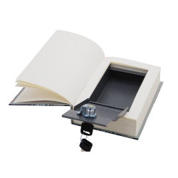 Fake Ivory Paper Book Safe with Key Lock
