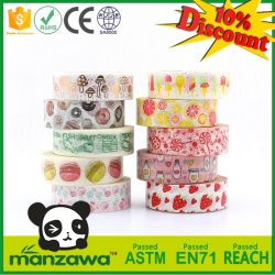 Manzawa Bright Color Handcraft Candy Strawberry Food Pattern Assorted Washi Tape for Home DIY Masking Decoration Party Gift