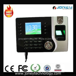 TCP/IP Fingerprint and ID Card Time Clock with 2.4 Inch Color TFT Screen.