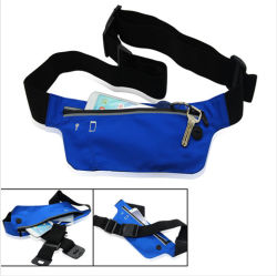 Runners Pack/ Sports Waist Bag/Sports Belt Pouch with Zip Closure