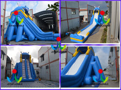 Giant Inflatable Hippo Wet Water Super Slide for Kids & Adults with Pool (JOY2-103)