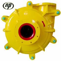 6/4e-Ahr Rubber Liner Tailings Discharge Mining Slurry Pump