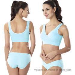 Comfortable Cotton Seamless Nursing Sports Bra Set 7a48c973b
