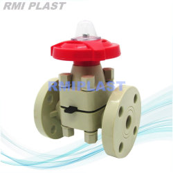 Flanged Pph Diaphragm Valve by Manual Operate