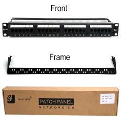 24 Port CAT6 Rj-45 UTP Unshielded Rackmount Patch Panel, Certified 100MHz