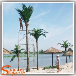 Guangzhou Wholesale Plastic Palm Tree Fiberglass Artificial Coconut Palm Tree