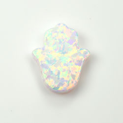 Blue Loose Gemstone Hamsa Synthetic Opal