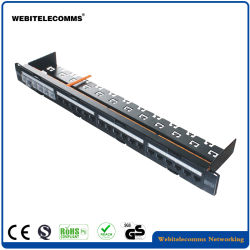 Toolless Rack Panel CAT6A 24 Port UTP Patch Panel