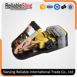 Rubber Handle Set Ratchet Strap with PVC Coated J Hooks