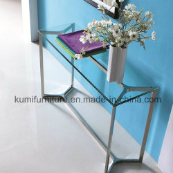 Hot Sale Modern Style Console Table With Glass Top