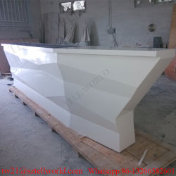 Artificial Stone Boat Shaped Night Club Furniture LED Lighting Bar Counter  Deisgn For Sale Boat Bar