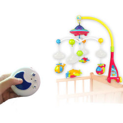Baby Products ABS Material Rotating Bed Bell Toy with Projection & Music (H8732056)