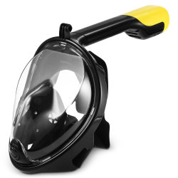 Snorkel Diving Mask Full Face Snorkeling Mask with Gopro Xiaoyi Sports Camera Mount