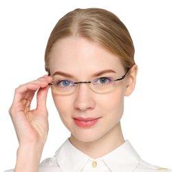 1df1bcec2e Magnifying Glasses Anti-Blue Ray Rimless Women Reading Glasses