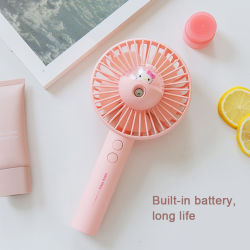Factory Custom Cute Spray Mist Cooler Stand Fan Electric USB Rechargeable Portable Hand Mini Fan