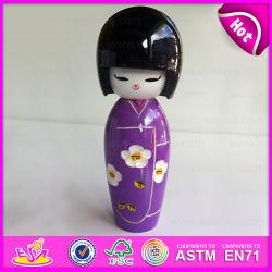Cheap Product 2015 Custom Cute Japanese Kimono Dolls, Custom Handmade Wooden Japanese Puppet Doll Kimono Dolls Wholesale W06D075