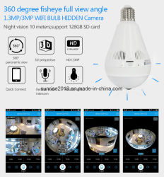 Home Security System Light Bulb Wireless IP Camera with WiFi and Motion Detection