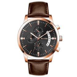 Exquisite Design Chronograph Watch Stop Watch Leather Watch Men Watch Sport