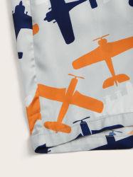 Boys Airplane Pocket Blouse Shorts Kids Pajamas 100%Cotton Kids Pyjamas Children Fob Reference Price: Get Lat